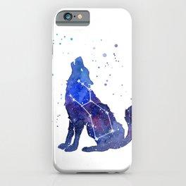 Galaxy Wolf Lupus Constellation iPhone Case