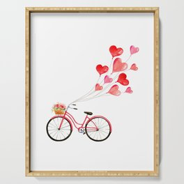 Love on a bicycle Serving Tray