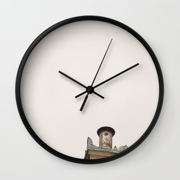 Painted-on Peregrine Wall Clock