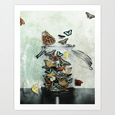 Butterfly Jar Art Print