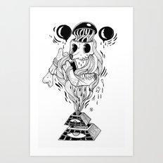 I was really fucked up last night Art Print