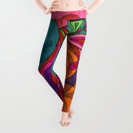 A Vases and Flowers Leggings