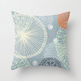Geodesic by Friztin Throw Pillow