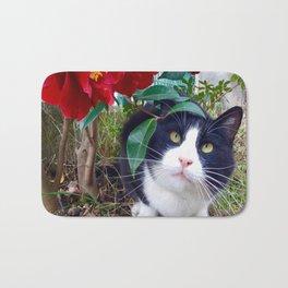 Orazio, the cat of camellias Bath Mat