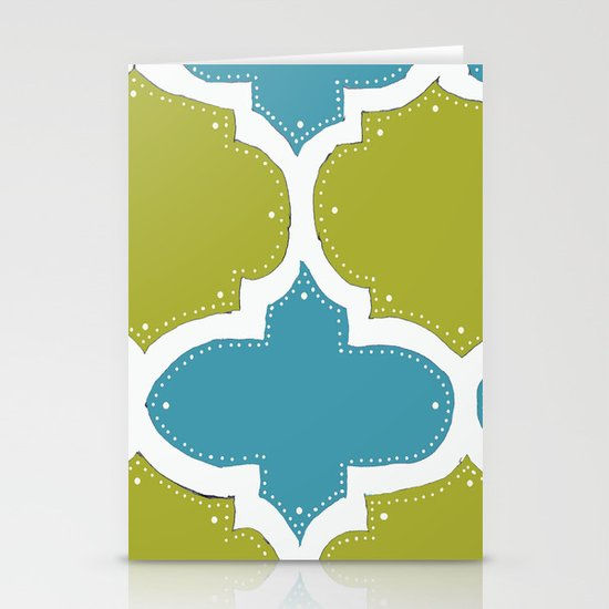 Morocco Blue & Gold Stationery Cards