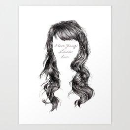 Jenny Lewis's Hair Art Print