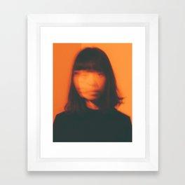 Patcha Fade Orange Framed Art Print
