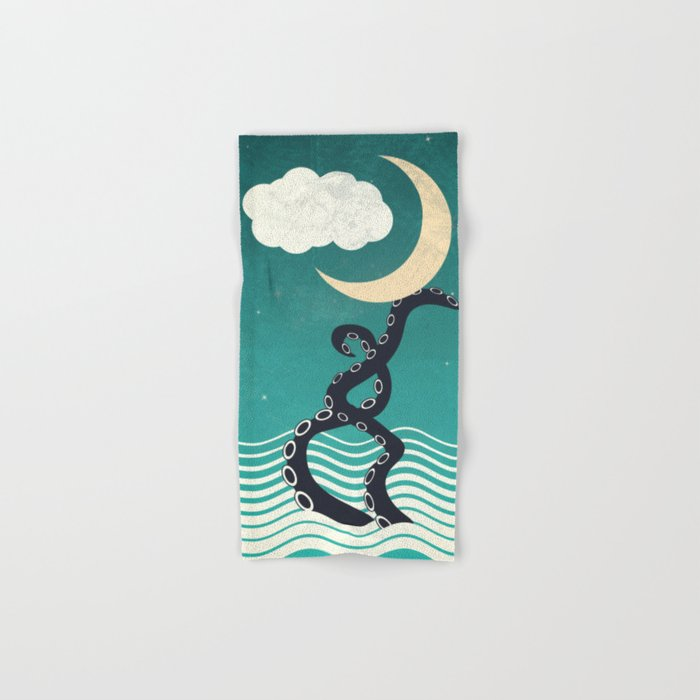 The octopus and the sea II (a lullaby) Hand & Bath Towel
