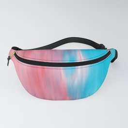 Abstract modern artsy coral teal aqua brushstrokes Fanny Pack