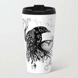 Black Crow Darling ll Metal Travel Mug