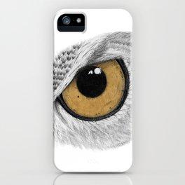 Gold Owl Eye iPhone Case