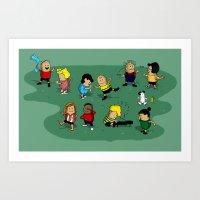 peanuts Art Prints featuring Juts Peanuts!! by Fabian Gonzalez