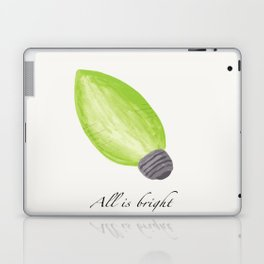 C9 Christmas Bulb in Green - 'All is Bright' Laptop & iPad Skin