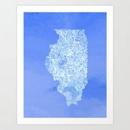 Illinois Maze Art Print