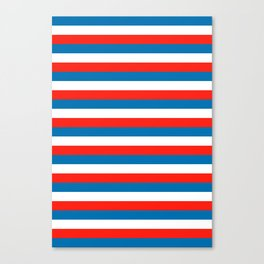 crimea faroe Wichita flag stripes Canvas Print