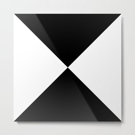 White x Black Metal Print