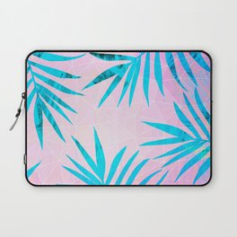 Refreshing Geometric Palm Tree Leaves Tropical Chill Design Laptop Sleeve