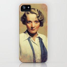 Marlene Dietrich, Vintage Actress iPhone Case