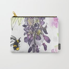 Wisteria Watercolor Carry-All Pouch
