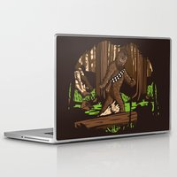 bigfoot Laptop & iPad Skins featuring The Bigfoot of Endor by Hoborobo