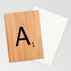 Scrabble Letter Tile - A Stationery Cards