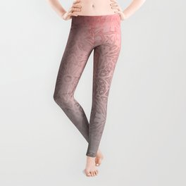 Oriental ornament pattern Rose Quartz Leggings