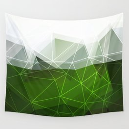 Green abstract background Wall Tapestry