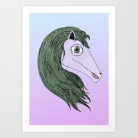 my little pony Art Prints featuring My Little Pony by Josefina F. Vigó