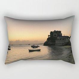 Barbados St Lawerence Gap Sunset Rectangular Pillow