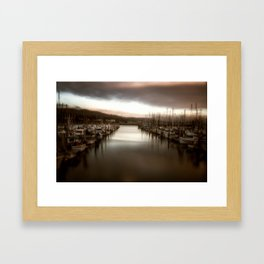 Unbalanced Half Moon Bay California Framed Art Print