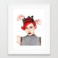 hayley williams Framed Art Prints featuring Hayley Williams  by Emily Smith (Emzstuff)