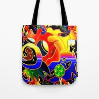 cosmic Tote Bags featuring Cosmic by JT Digital Art