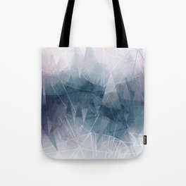 Ameythist Crystal Inspired Modern Abstract Tote Bag