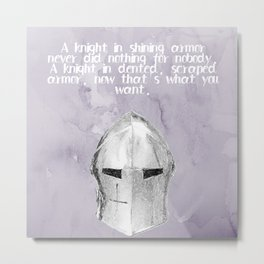A Knight In Dented Armor Metal Print