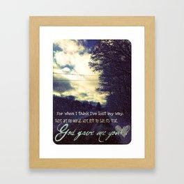God Gave Me You Framed Art Print