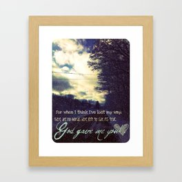 God Gave Me You Framed Art Print