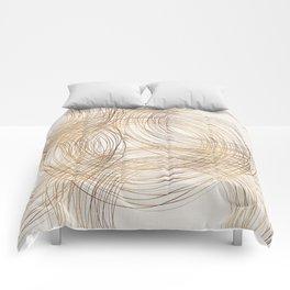 Metallic Circle Pattern Comforters