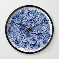 furry Wall Clocks featuring furry by grafillu