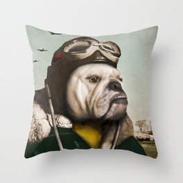 "Wing Commander, Benton ""Bulldog"" Bailey of the RAF Throw Pillow"