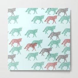Green Fox, Red fox Metal Print