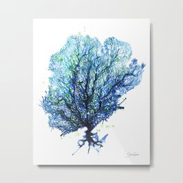 Sea Fan - Aqua Metal Print