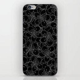 Cherry Blossom Black on White - In Memory of Mackenzie iPhone Skin