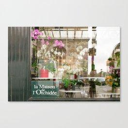 Paris Flower Shop Window Canvas Print