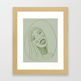 Behave, Miss Green. Framed Art Print
