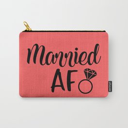 Married AF - Coral Carry-All Pouch