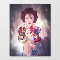 princess leia Canvas Prints featuring Leia by Artistic