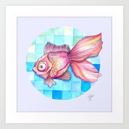 Boobie-eyed fish Art Print