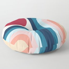 Waterfalls and Sun (Abstraction artwork) Floor Pillow