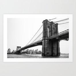Brooklin Bridge Art Print