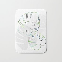 Tropical Leaves (Gloriosum Philodendron) Bath Mat
